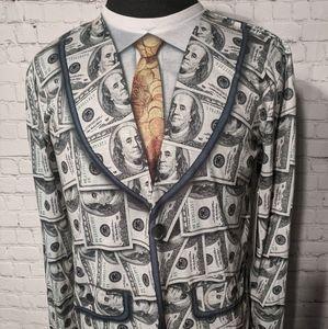 Faux Real Men's Money Suit Benjamin Franklin $100